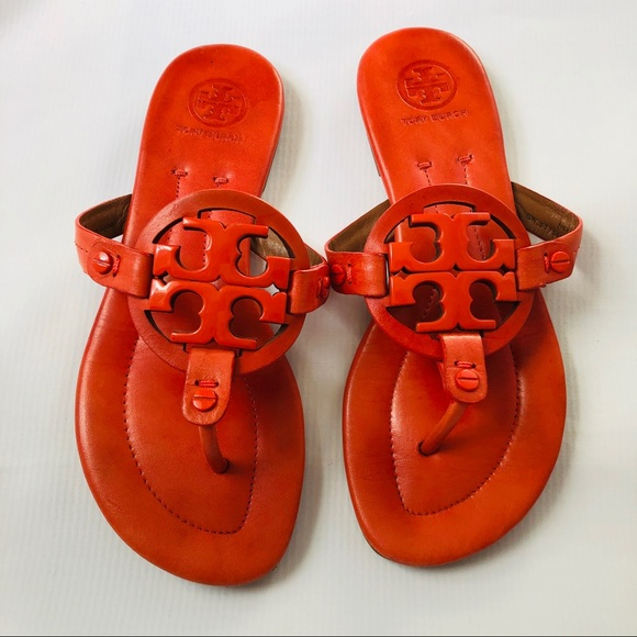 Tory Burch Shoes - Tory Burch Miller Thong orange sandals